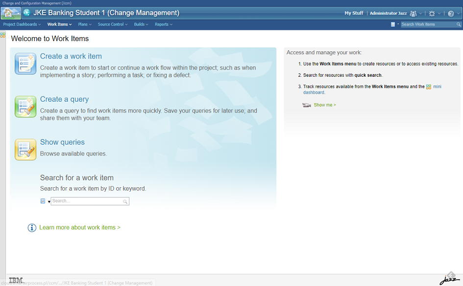IBM Rational Team Concert - Change management module